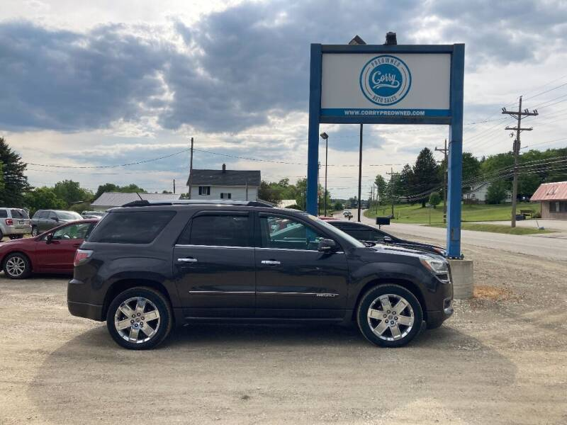 2014 GMC Acadia for sale at Corry Pre Owned Auto Sales in Corry PA