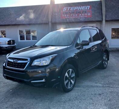 2018 Subaru Forester for sale at Stephen Motor Sales LLC in Caldwell OH