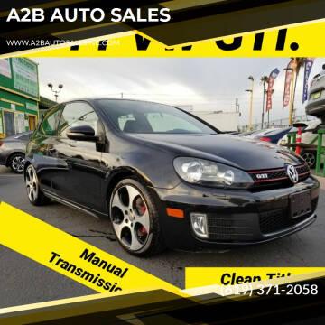 2011 Volkswagen GTI for sale at A2B AUTO SALES in Chula Vista CA