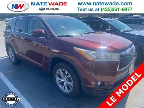 2014 Toyota Highlander for sale at NATE WADE SUBARU in Salt Lake City UT