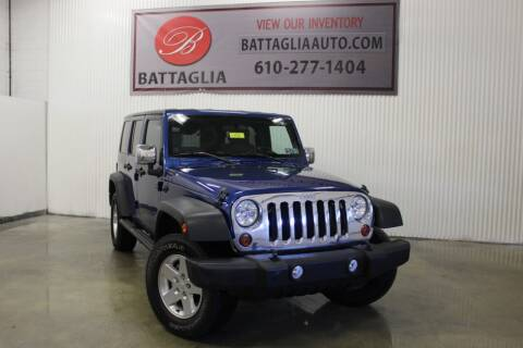 2010 Jeep Wrangler Unlimited for sale at Battaglia Auto Sales in Plymouth Meeting PA