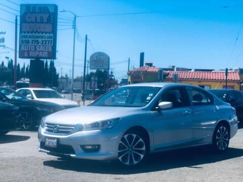 2015 Honda Accord for sale at City Motors in Hayward CA
