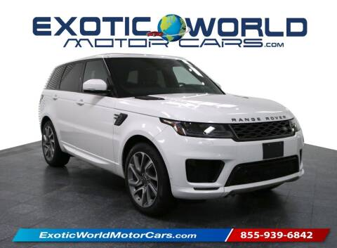 2019 Land Rover Range Rover Sport for sale at Exotic World Motor Cars in Addison TX
