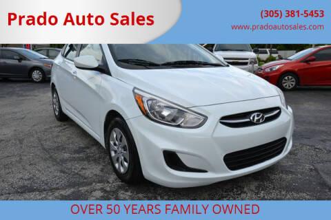 2015 Hyundai Accent for sale at Prado Auto Sales in Miami FL
