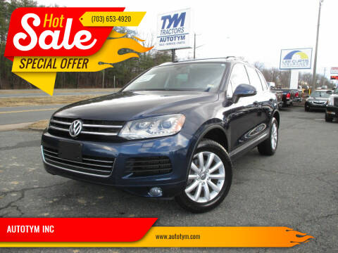 2011 Volkswagen Touareg for sale at AUTOTYM INC in Fredericksburg VA