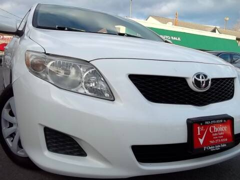 2009 Toyota Corolla for sale at 1st Choice Auto Sales in Fairfax VA