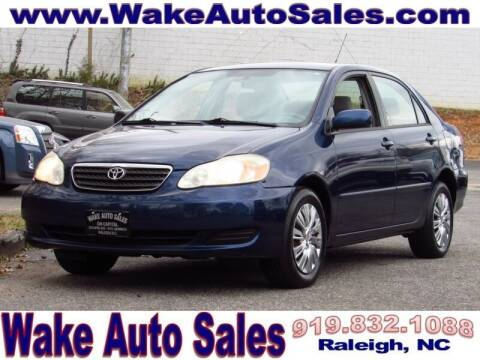 2005 Toyota Corolla for sale at Wake Auto Sales Inc in Raleigh NC