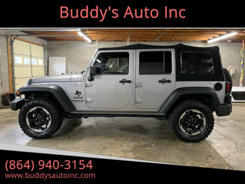 2017 Jeep Wrangler Unlimited for sale at Buddy's Auto Inc in Pendleton, SC