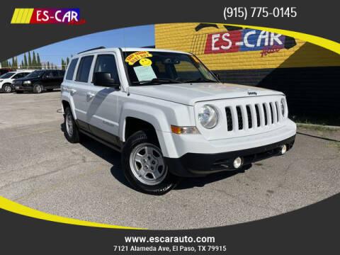 2015 Jeep Patriot for sale at Escar Auto - 9809 Montana Ave Lot in El Paso TX
