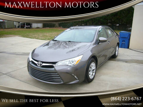 2015 Toyota Camry for sale at MAXWELLTON MOTORS in Greenwood SC