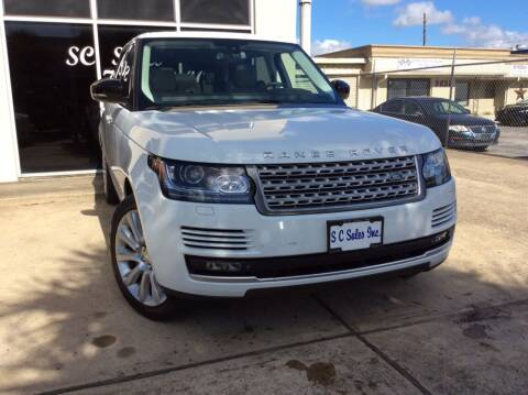 2015 Land Rover Range Rover for sale at SC SALES INC in Houston TX