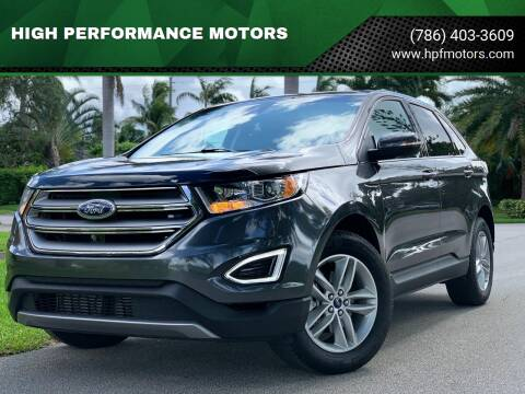 2018 Ford Edge for sale at HIGH PERFORMANCE MOTORS in Hollywood FL
