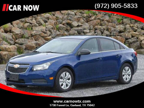 2012 Chevrolet Cruze for sale at Car Now Dallas in Dallas TX