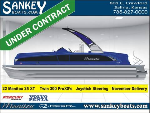 2022 Manitou 25 XT SRS Twin SHP for sale at SankeyBoats.com in Salina KS