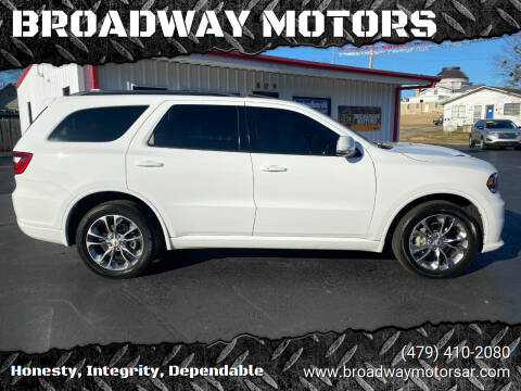 2019 Dodge Durango for sale at BROADWAY MOTORS in Van Buren AR