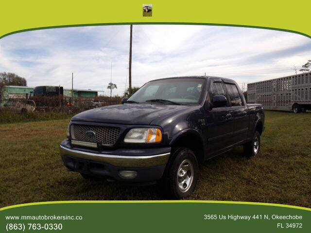 2001 Ford F-150 for sale at M & M AUTO BROKERS INC in Okeechobee FL
