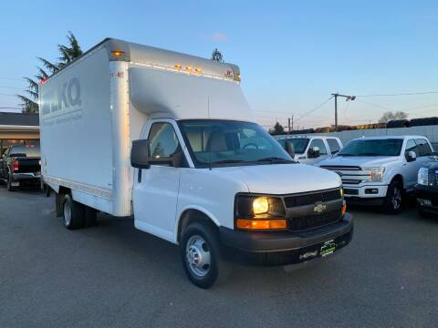 2016 Chevrolet 3500 Express Savana Box Truck  for sale at Lux Motors in Tacoma WA