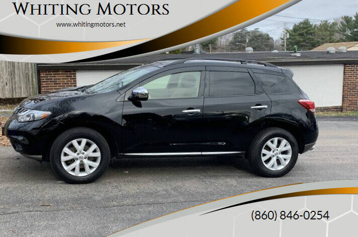 2012 Nissan Murano for sale at Whiting Motors in Plainville CT