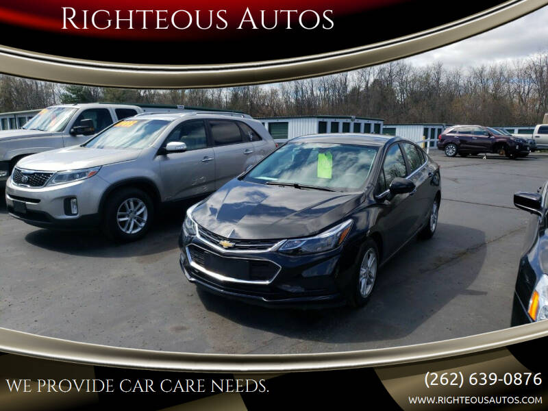 2017 Chevrolet Cruze for sale at Righteous Autos in Racine WI