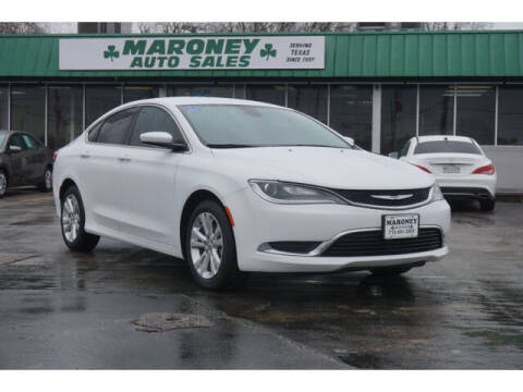 2017 Chrysler 200 for sale at Maroney Auto Sales in Humble TX