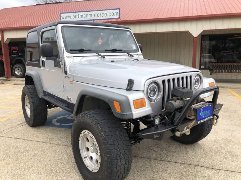 2003 Jeep Wrangler for sale at PITTMAN MOTOR CO in Lindale TX