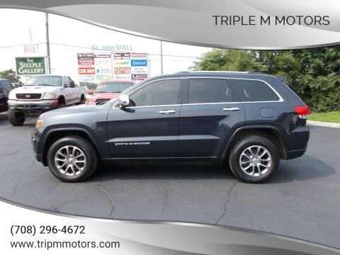 2014 Jeep Grand Cherokee for sale at Triple M Motors in Saint John IN