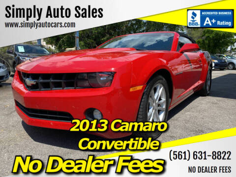2013 Chevrolet Camaro for sale at Simply Auto Sales in Palm Beach Gardens FL