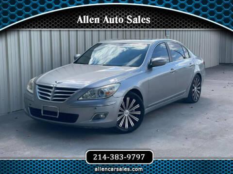 2009 Hyundai Genesis for sale at Allen Auto Sales in Dallas TX