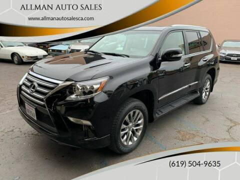 2017 Lexus GX 460 for sale at ALLMAN AUTO SALES in San Diego CA
