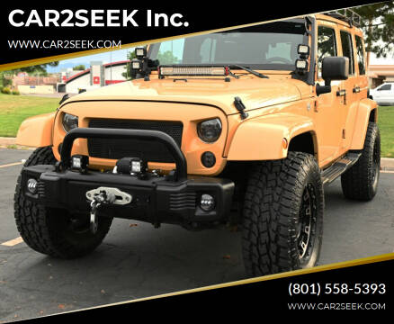 2014 Jeep Wrangler Unlimited for sale at CAR2SEEK Inc. in Salt Lake City UT