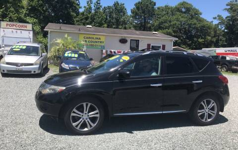 2009 Nissan Murano for sale at Carolina Car Country in Little River SC