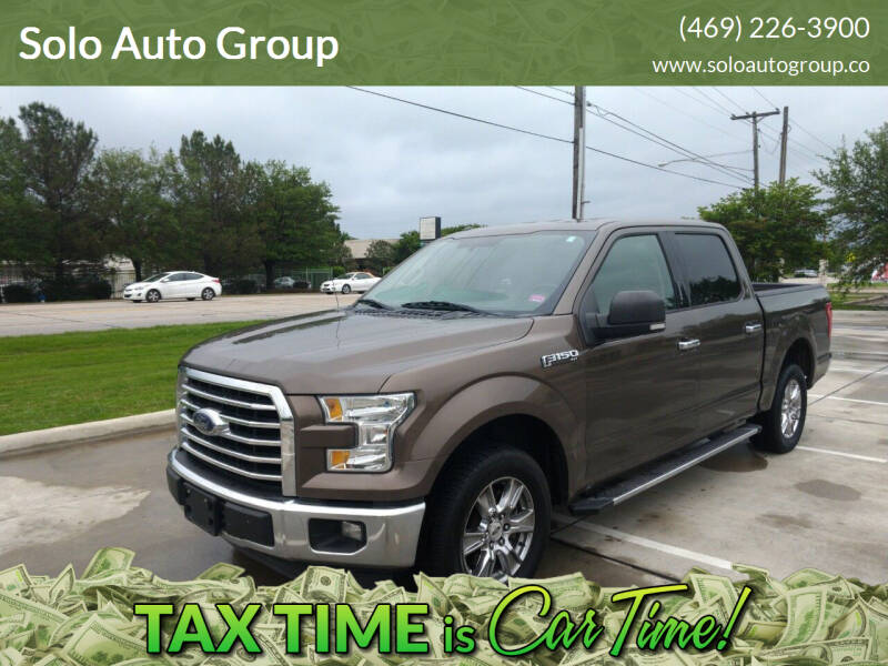 2015 Ford F-150 for sale at Solo Auto Group in Mckinney TX