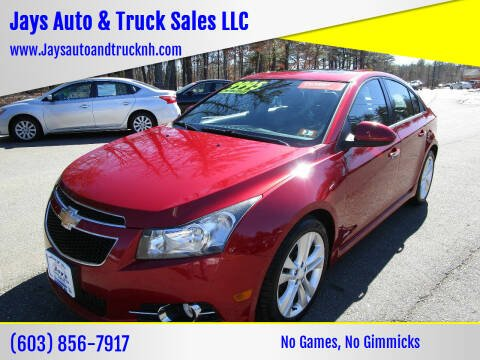 Chevrolet Cruze For Sale In Loudon Nh Jays Auto Truck Sales Llc