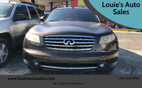 2007 Infiniti FX35 for sale at Louie's Auto Sales in Leesburg FL