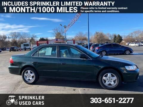 2000 Honda Accord for sale at Sprinkler Used Cars in Longmont CO