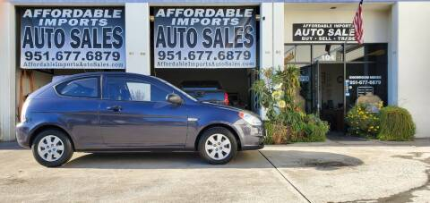 2009 Hyundai Accent for sale at Affordable Imports Auto Sales in Murrieta CA