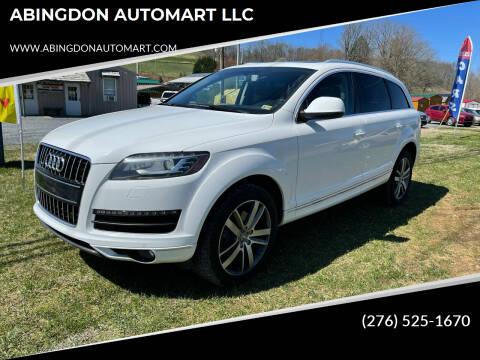2012 Audi Q7 for sale at ABINGDON AUTOMART LLC in Abingdon VA