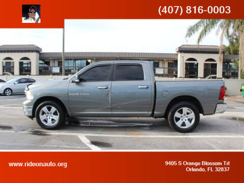 2011 RAM Ram Pickup 1500 for sale at Ride On Auto in Orlando FL