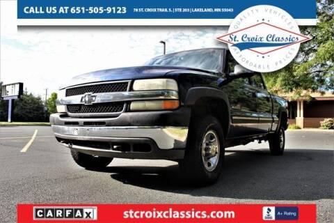 2001 Chevrolet Silverado 2500HD for sale at St. Croix Classics in Lakeland MN