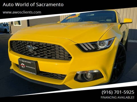 2015 Ford Mustang for sale at Auto World of Sacramento Stockton Blvd in Sacramento CA
