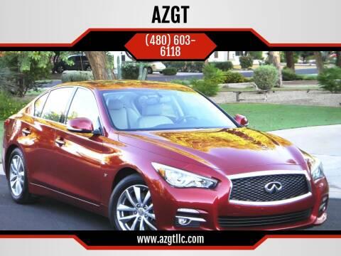 2015 Infiniti Q50 for sale at AZGT LLC in Phoenix AZ