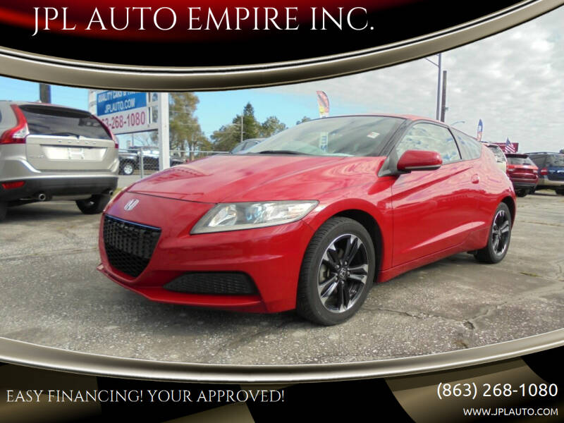 2014 Honda CR-Z for sale at JPL AUTO EMPIRE INC. in Auburndale FL