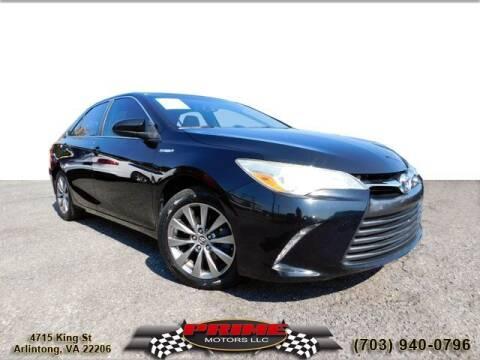 2015 Toyota Camry Hybrid for sale at PRIME MOTORS LLC in Arlington VA
