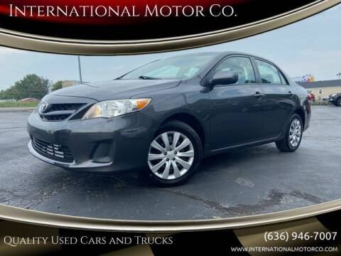 2012 Toyota Corolla for sale at International Motor Co. in St. Charles MO