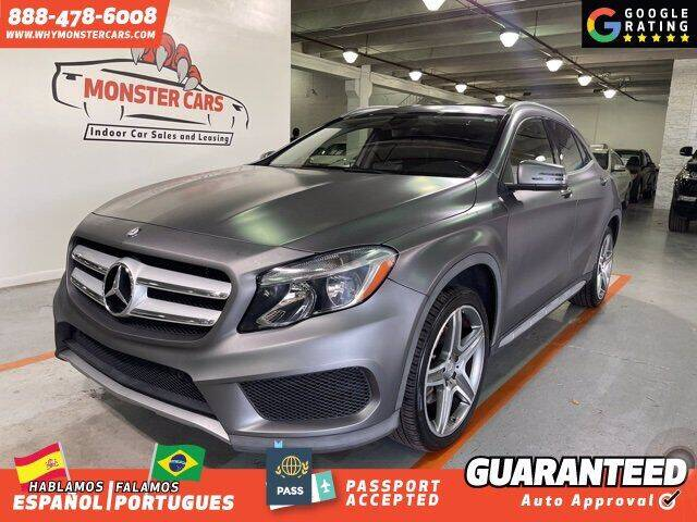 2015 Mercedes-Benz GLA for sale at Monster Cars in Pompano Beach FL