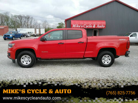 2018 Chevrolet Colorado for sale at MIKE'S CYCLE & AUTO in Connersville IN