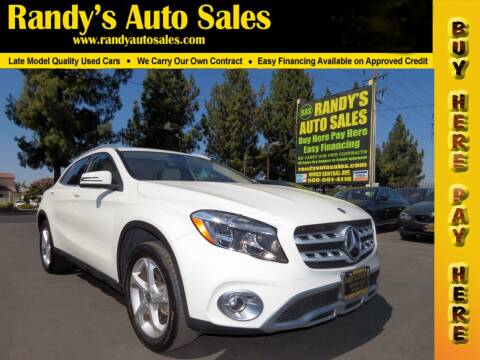 2018 Mercedes-Benz GLA for sale at Randy's Auto Sales in Ontario CA