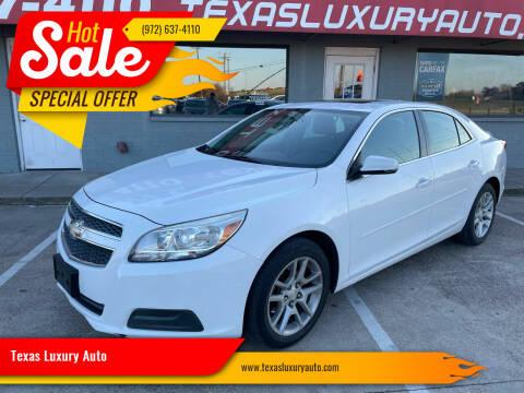 2013 Chevrolet Malibu for sale at Texas Luxury Auto in Cedar Hill TX