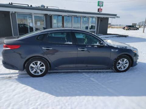 2017 Kia Optima for sale at BERG AUTO MALL & TRUCKING INC in Beresford SD