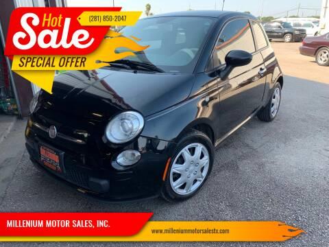 2012 FIAT 500 for sale at MILLENIUM MOTOR SALES, INC. in Rosenberg TX